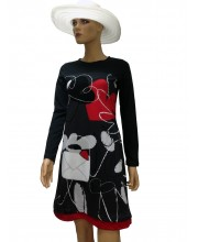 Vestido Corta con la supersticiones Morado  40173 13