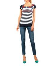 Camiseta  Marinera  con mangas ajustada y cintura