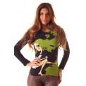 Camiseta M/Larga, CUIDADO CON LAS MOSCAS cuello pico