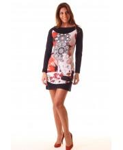 ELISA, Vestido M larga,  estampado floral